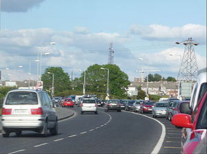 N6 road (Ireland) - Late evening traffic on the N6 in Galway City.