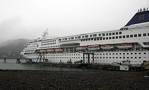 SuperStar Aquarius - Norwegian Wind In Port.