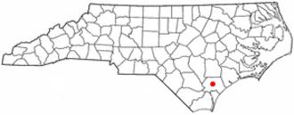 Burgaw, North Carolina - Image: NC Map doton Burgaw