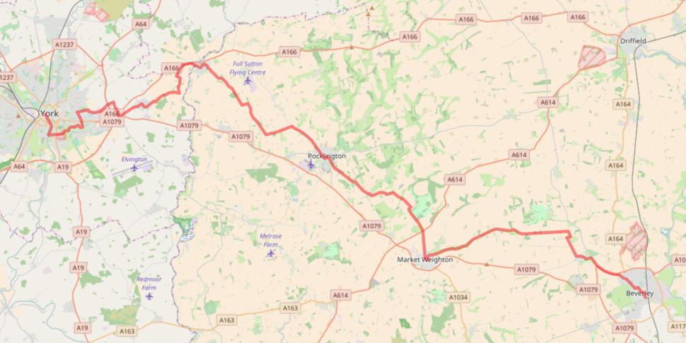 NCN Route 66 Beverley-York