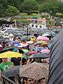 NOLA BP Oil Flood Protest brollys carriages.JPG