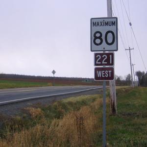 Nova Scotia Route 221 - Nova Scotia Route 221, not far from Brooklyn Street