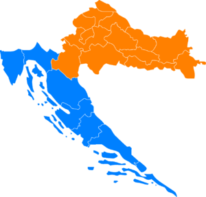 NUTS statistical regions of Croatia - NUTS-2 division as of September 2012