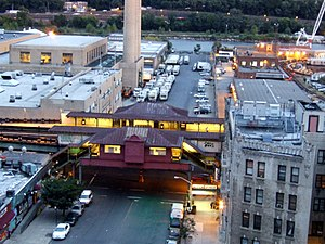 215th Street (IRT Broadway–Seventh Avenue Line) - Aerial view of station