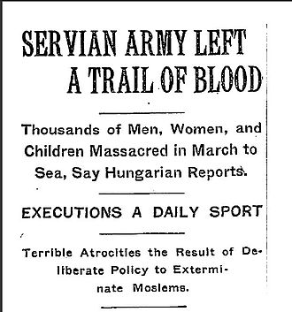 Serbia in the Balkan Wars - The New York Times, 31 December 1912.