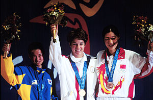 Shooting at the 2000 Summer Olympics – Women's 10 metre air rifle - Image: Nancy Johnson (sport shooter) 5