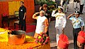 Narendra Modi paying homage to the brave soldiers, who devoted their lives to the nation & fought bravely in 1965, at Amar Jawan Jyoti, India Gate, in New Delhi. The three Service Chiefs, General Dalbir Singh (1).jpg