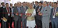 Narendra Singh Tomar inaugurating the international exhibition and conference on Steel Industry 'India Steel 2015', in Mumbai. The Secretary, Ministry of Steel, Shri Rakesh Singh and other dignitaries are also seen.jpg