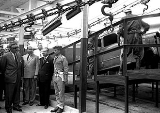 Helwan - President Gamal Abdel Nasser inaugurating the Al Nasr automobile factory in Helwan, 1963