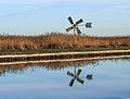 Nationaal Park Weerribben-Wieden. Watermolen in het rietland van de Weerribben 02.jpg