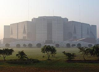 Jatiya Sangsad Bhaban national assembly building of Bangladesh
