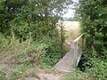 National Cycle Route 23 field footbridge.JPG