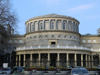 National Library of Ireland - The front façade of the library, 2011