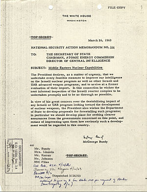National Security Action Memorandum Number 231