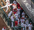 Nationals dugout celebrates Trea Turner HR from Nationals vs. Braves at Nationals Park, April 6th, 2021 (All-Pro Reels Photography) (51101615724).png