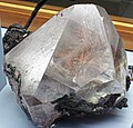 Native copper in calcite crystal (late Mesoproterozoic mineralization age, 1.05-1.06 Ga; Quincy Mine, Hancock, Keweenaw Peninsula, Upper Peninsula of Michigan, USA) 5 (17300587602).jpg
