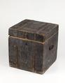 Nattstol (potta) i form av låda i grönmålad furu från 1700-talet - Skoklosters slott - 95290.tif