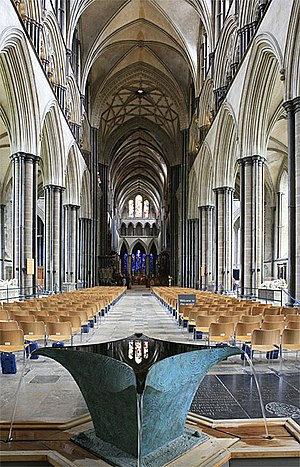 Nave of Salisbury Cathedral, with Sibirica Min...