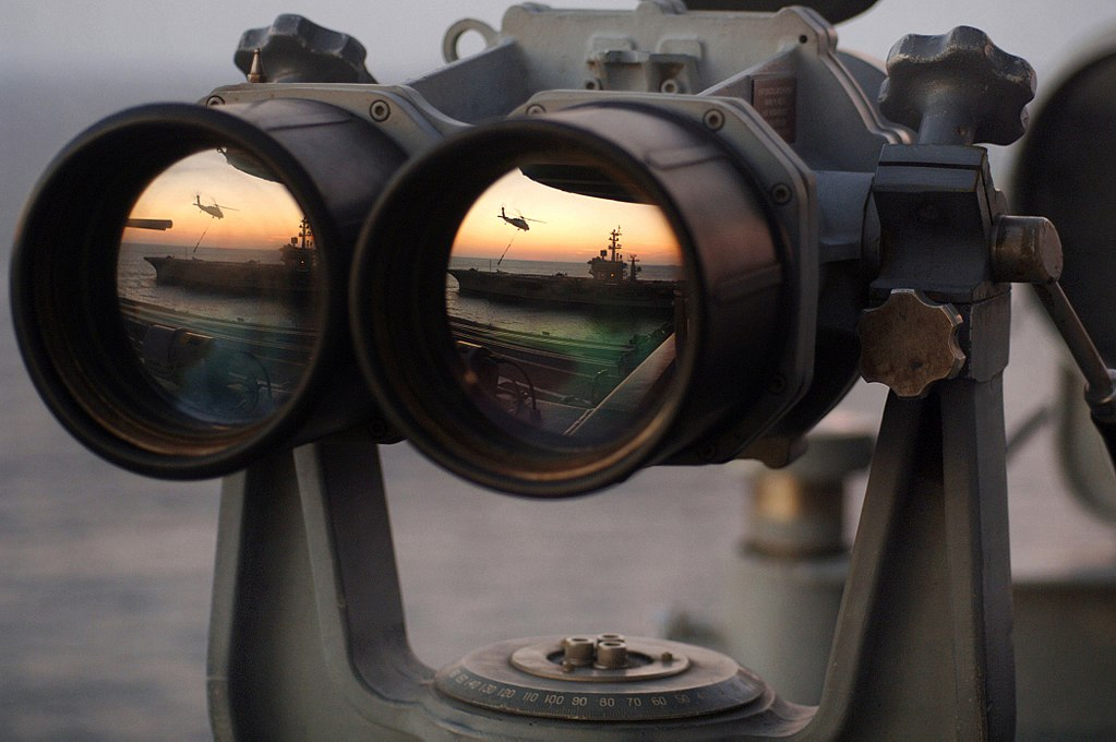 Navy binoculars
