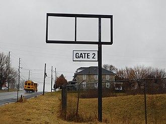 Nazareth Speedway - Nazareth Speedway signage at Gate 2 along PA191