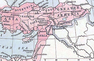 Kurdistan - 19th-century map showing the location of the Kingdom of Corduene in 60 BCE