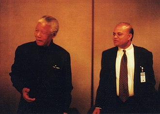 Iqbal Quadir - Quadir after a dinner meeting with Nelson Mandela in 2000 in the Carter Center in Atlanta.
