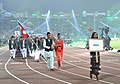 Nepal players taking part in the ceremonial march pass, on the occasion of the 12th South Asian Games-2016, at Indira Gandhi Athletics Stadium, in Guwahati, Assam on February 05, 2016.jpg