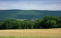 Nescopeck Mountain in Main Township