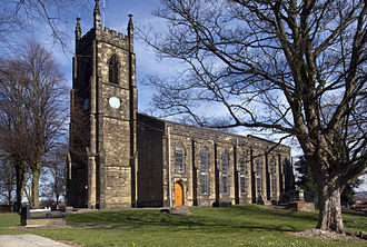 Netherton, West Midlands - St Andrew's church, on the hill