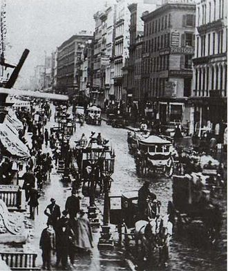 New York City in the American Civil War - Broadway in 1860