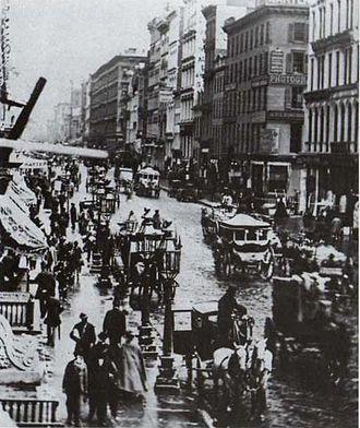 Broadway (Manhattan) - Broadway in 1860