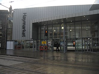 Haymarket railway station - New entrance to Haymarket railway station.