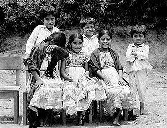 Indigenous people of Oaxaca - Chatino children