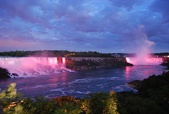 English: Niagra Falls - Canadian and American ...