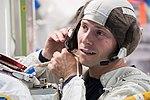 Nick Hague during ISS EVA training at Johnson Space Center.jpg