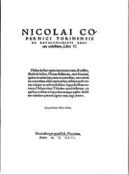 Nicolai Copernici torinensis De revolutionibus orbium coelestium: libri VI