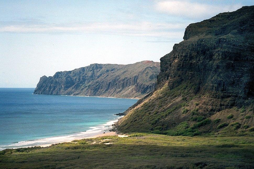 Niihau cliffs aerial