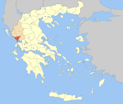 Preveza within Greece