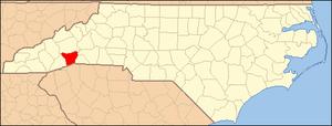 Locator Map of Henderson County, North Carolin...