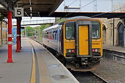 Northern Rail Class 153, 153352, platform 5, Lancaster railway station (geograph 4499730).jpg