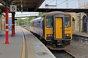 Furness line - A Northern Rail Class 153 at Lancaster railway station