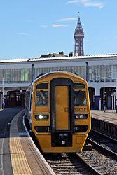 Northern Rail Class 158, 158752, Blackpool North railway station (geograph 4500172).jpg