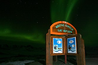 Arctic Circle - Image: Northern lights at the Arctic Circle