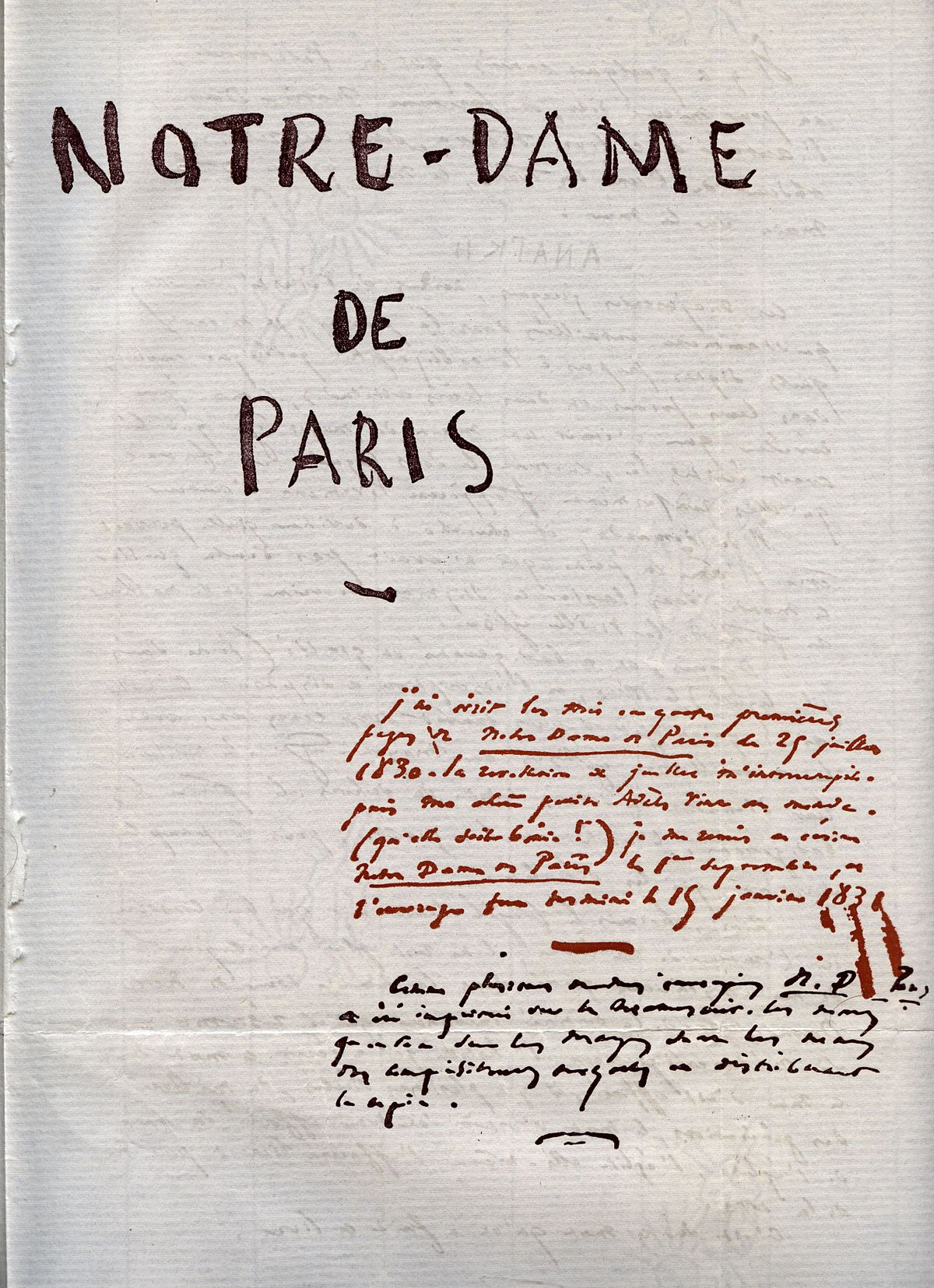 premiere edition notre dame de paris