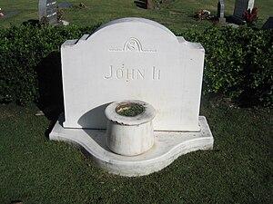 John Papa ʻĪʻī - Tombstone of John ʻĪʻī in Oahu Cemetery