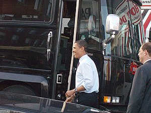 Barack Obama stops in Altoona, Pennsylvania on...