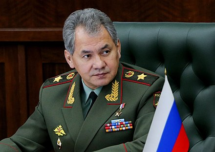 Russia's Defense Minister Sergey Shoygu is the son of Tuvan father and Russian mother Official portrait of Sergey Shoigu 08.jpg