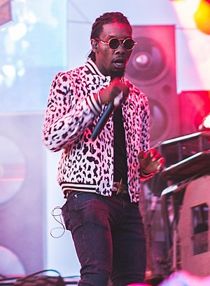 Offset (rapper) - Offset performing in August 2017