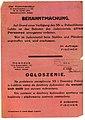 Ogłoszenie dowódcy Policji Bezpieczeństwa i SD w Radzyniu Podlaskim o zakazie wstępu i plądrowania getta przez ludność polską 2 listopada 1942.jpg