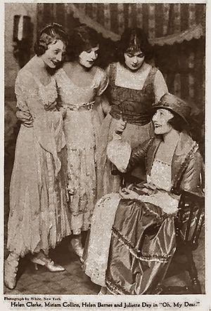 Oh, My Dear! - (L-R) Helen Clarke, Miriam Collins, Helen Barnes and Juliette Day - Green Book Magazine, 1919